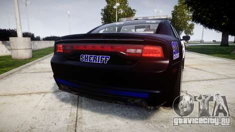 Dodge Charger RT 2014 Sheriff [ELS] для GTA 4 вид сзади слева