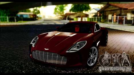 Aston Martin One-77 Black and Red для GTA San Andreas