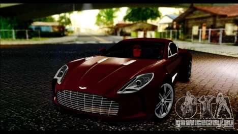 Aston Martin One-77 Black and Red для GTA San Andreas