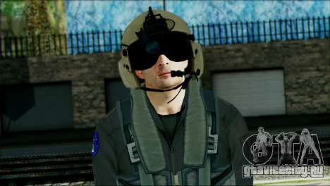 USA Helicopter Pilot from Battlefield 4 для GTA San Andreas третий скриншот