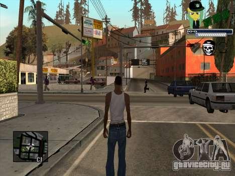C-HUD Grove Street Gang для GTA San Andreas