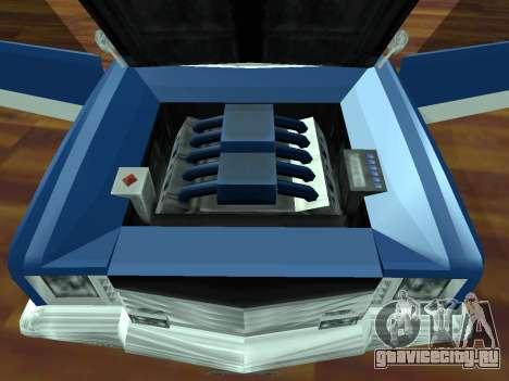 Buccaneer Turbo для GTA San Andreas вид сзади