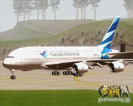 Airbus A380-800 Garuda Indonesia для GTA San Andreas вид сзади
