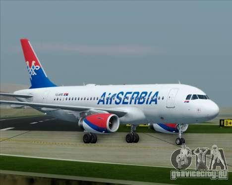 Airbus A319-100 Air Serbia для GTA San Andreas салон