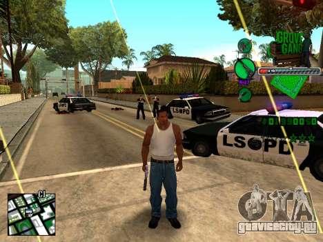 C-HUD Grove Street TAWER для GTA San Andreas второй скриншот