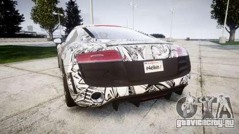 Audi R8 plus 2013 HRE rims Sharpie для GTA 4 вид сзади слева