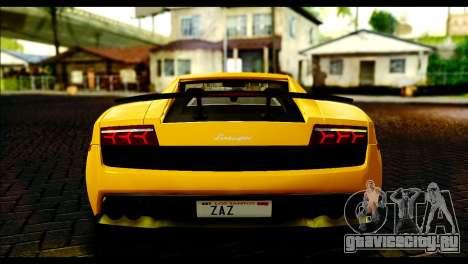 Lamborghini Gallardo LP 570-4 для GTA San Andreas вид справа