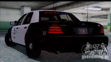 LAPD Ford Crown Victoria Slicktop для GTA San Andreas вид слева