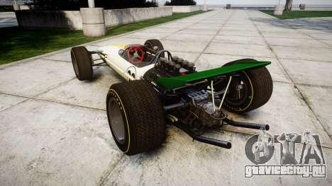 Lotus Type 49 1967 [RIV] PJ21-22 для GTA 4 вид сзади слева