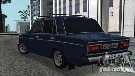 ВАЗ 2106 Russian style 2.0 для GTA San Andreas вид сзади слева