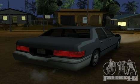 Beta Elegant Final для GTA San Andreas вид слева