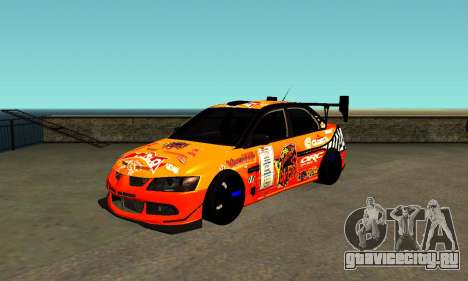 Mitsubishi Lancer Evo 9 Kumakubo Team Orange для GTA San Andreas