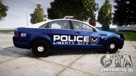 Chevrolet Caprice 2012 LCPD [ELS] v1.1 для GTA 4 вид слева