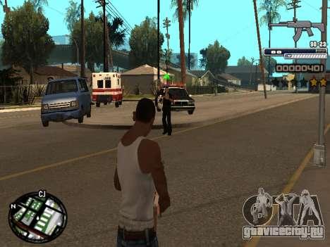 CLEO HUD Spiceman для GTA San Andreas второй скриншот