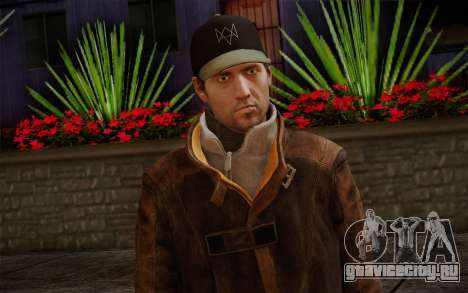 Aiden Pearce from Watch Dogs v12 для GTA San Andreas третий скриншот