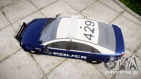 Chevrolet Caprice 2012 LCPD [ELS] v1.1 для GTA 4 вид справа