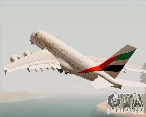 Airbus A380-800 Emirates 40 Anniversary Sticker для GTA San Andreas