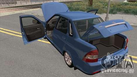 Lada Priora 2 для GTA San Andreas вид сзади