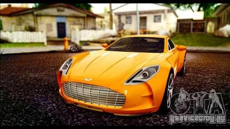 Aston Martin One-77 Black для GTA San Andreas