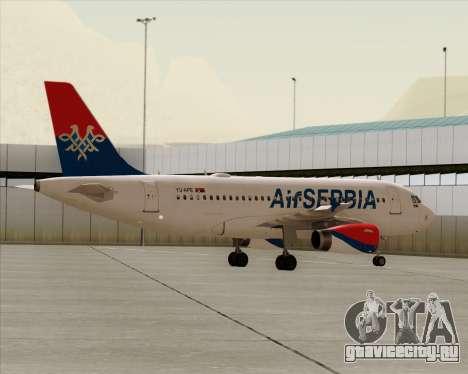 Airbus A319-100 Air Serbia для GTA San Andreas вид снизу