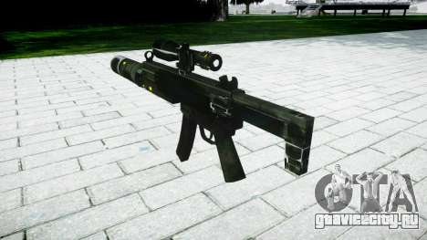 Тактический пистолет-пулемёт MP5 target для GTA 4 второй скриншот