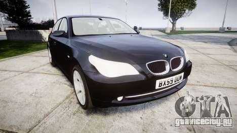 BMW 525d E60 2009 Police [ELS] Unmarked для GTA 4
