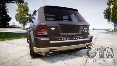 Range Rover Sport Kahn Tuning 2010 для GTA 4 вид сзади слева