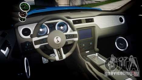 Ford Mustang Shelby GT500 2013 Sharpie для GTA 4 вид изнутри