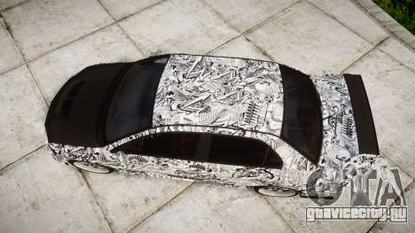 Mitsubishi Lancer Evolution IX Sharpie для GTA 4 вид справа