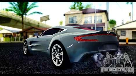 Aston Martin One-77 Red and Black для GTA San Andreas вид слева