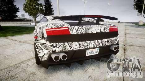 Lamborghini Gallardo LP570-4 Superleggera 2011 S для GTA 4 вид сзади слева