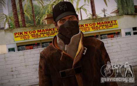 Aiden Pearce from Watch Dogs v4 для GTA San Andreas третий скриншот