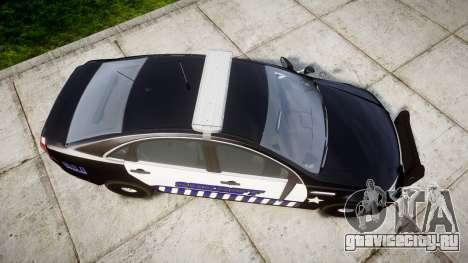 Chevrolet Caprice 2012 Sheriff [ELS] v1.1 для GTA 4 вид справа