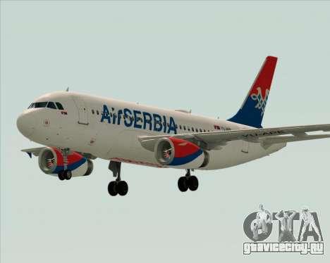 Airbus A319-100 Air Serbia для GTA San Andreas вид сверху