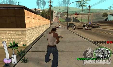 C-HUD Canabis для GTA San Andreas четвёртый скриншот