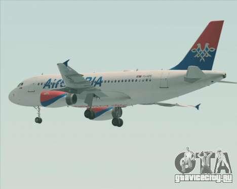 Airbus A319-100 Air Serbia для GTA San Andreas колёса