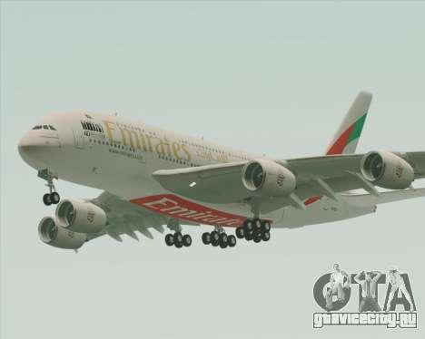 Airbus A380-800 Emirates 40 Anniversary Sticker для GTA San Andreas вид снизу