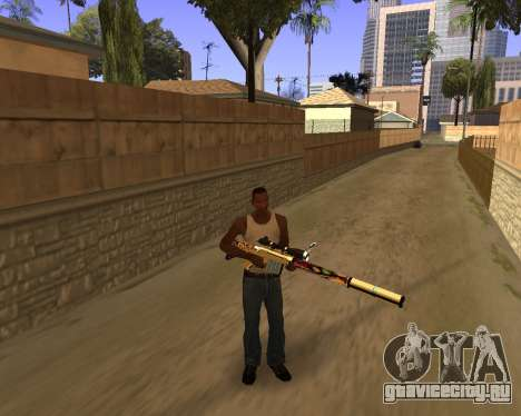 Graffity Weapons для GTA San Andreas второй скриншот