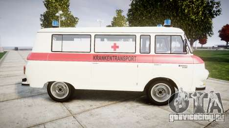Barkas B1000 1961 Ambulance для GTA 4 вид слева