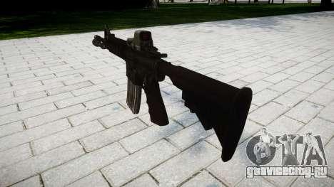 Тактический автомат M4 Black Edition target для GTA 4 второй скриншот