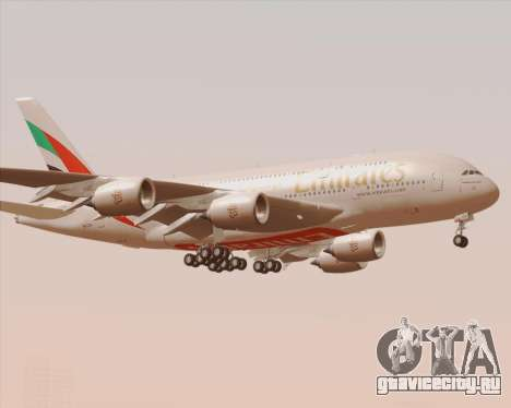 Airbus A380-800 Emirates 40 Anniversary Sticker для GTA San Andreas вид сбоку