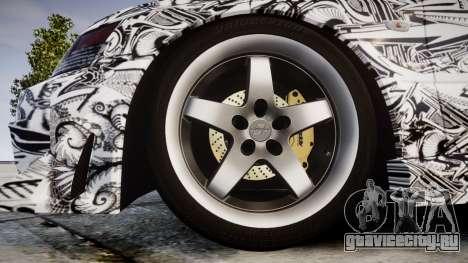 Mitsubishi Lancer Evolution IX Sharpie для GTA 4 вид сзади