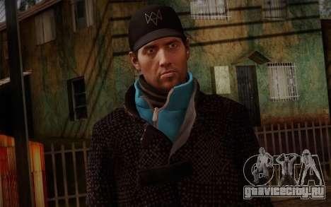 Aiden Pearce from Watch Dogs v9 для GTA San Andreas третий скриншот
