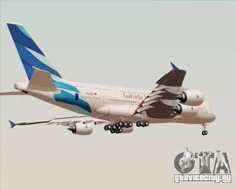 Airbus A380-800 Garuda Indonesia для GTA San Andreas вид снизу