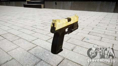 Пистолет HK USP 45 gold для GTA 4 второй скриншот