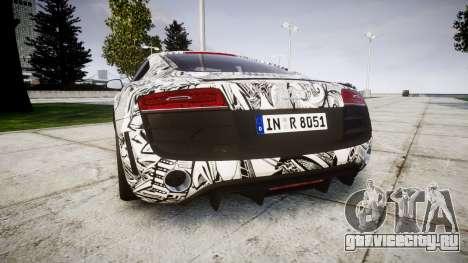 Audi R8 plus 2013 Wald rims Sharpie для GTA 4 вид сзади слева