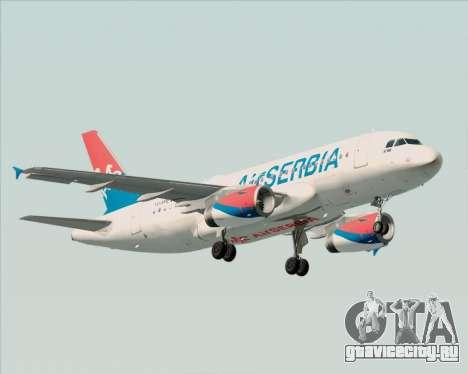 Airbus A319-100 Air Serbia для GTA San Andreas вид слева