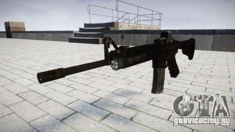 Тактический автомат M4 Black Edition target для GTA 4