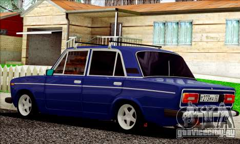 ВАЗ 2106 Russian style для GTA San Andreas вид сзади слева