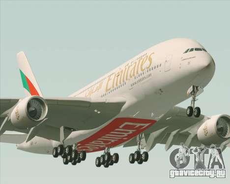 Airbus A380-800 Emirates 40 Anniversary Sticker для GTA San Andreas двигатель